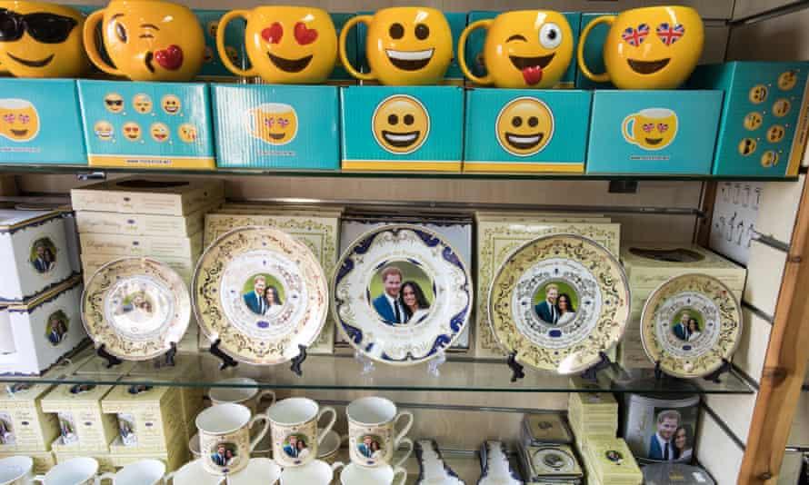 A shop in Windsor displays royal wedding memorabilia.