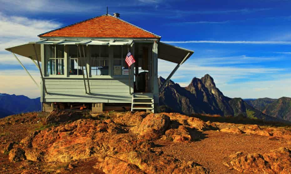 Desolation Peak Lookout cabin in Ross Lake National Recreation Area Washington