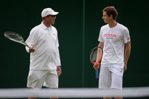 2013: Andy Murray with his coach Ivan Lendl at Wimbledon