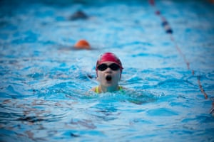 The first swimmers take the plunge as Hathersage Pool in the Derbyshire Peak District reopens