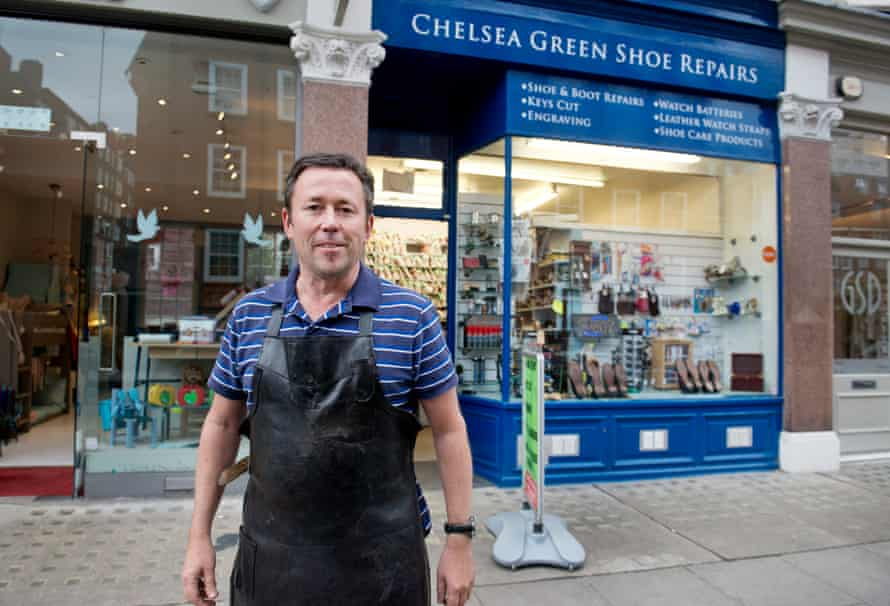 Cobbler Matthew Childs, who works in Chelsea, but lives in Surrey.