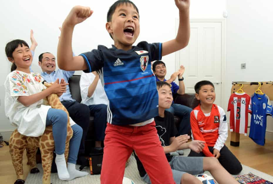Watching the World Cup at home, the Nishi family, Acton, London