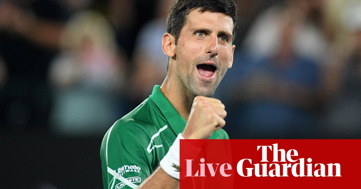 Novak Djokovic beats Roger Federer: Australian Open semi-final – live!