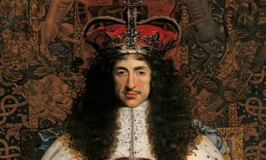 Detail from Charles II, c.1676, by John Michael Wright.