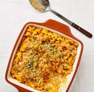 Meera Sodha's creamy macaroni with sweet potato and gochujang.