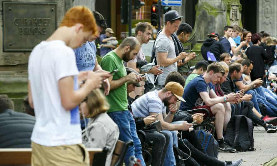 Pokémon Go gamers, Dusseldorf, Germany