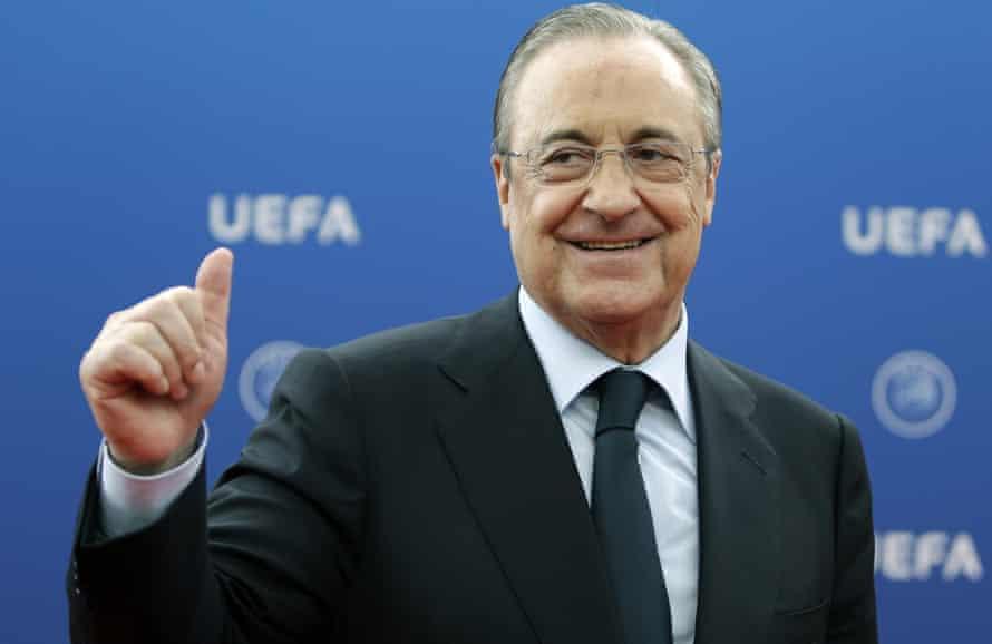 Real Madrid's Florentino Pérez