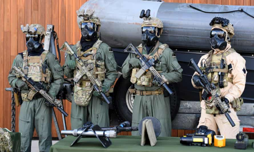 Special Operations Command (SOCOMD) soldiers are seen at Holsworthy Barracks in Sydney, at a visit from Malcolm Turnbull.