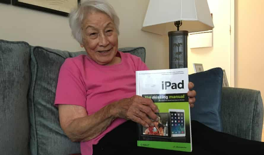 Rose Wong, 102, is still learning how to use new forms of technology.