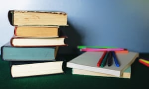 Educational books and pen