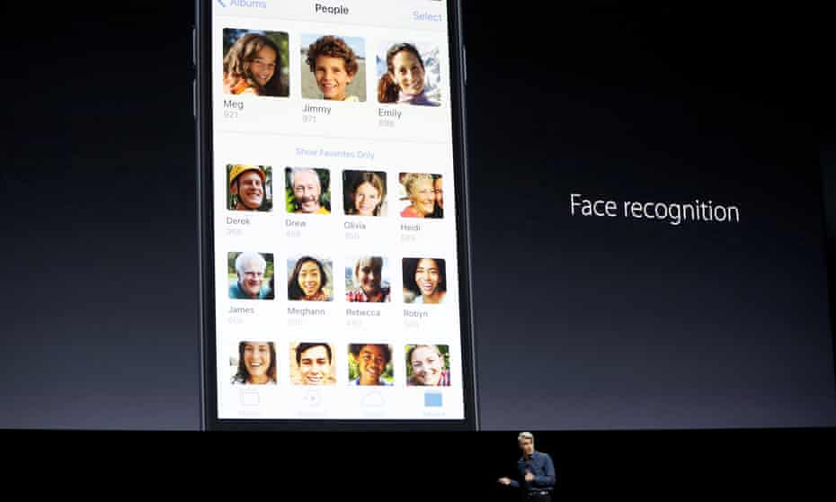 Craig Federighi talks about face recognition with iOS at the company's World Wide Developers Conference in San Francisco, California.