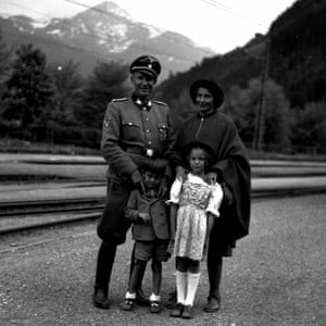 Otto, Charlotte, Horst and Traute, Zell-am-See station, 1944.