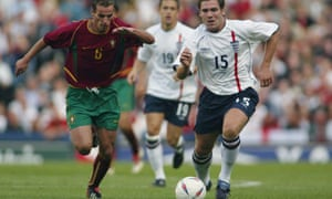 David Dunn in action during his one England cap against Portugal in 2002.