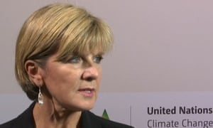 Australia's Foreign Minister Julie Bishop on Friday in Paris