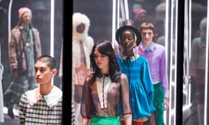 The Gucci show at Milan fashion week in February.