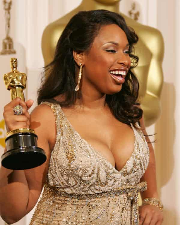 Winning her Oscar.