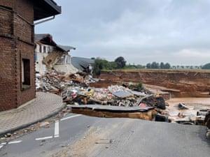 Flood damage in Blessem, Germany