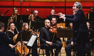 'Conducting a storm'... Carlo Rizzi and the Welsh National Opera Orchestra.