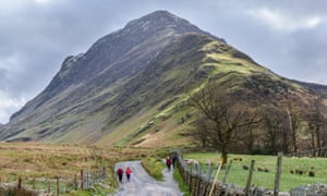Walkers at Fleetwith Pike in the Lake District