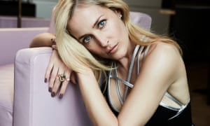 'I keep myself busy because when I stop, that's when I get in trouble': Gillian Anderson.