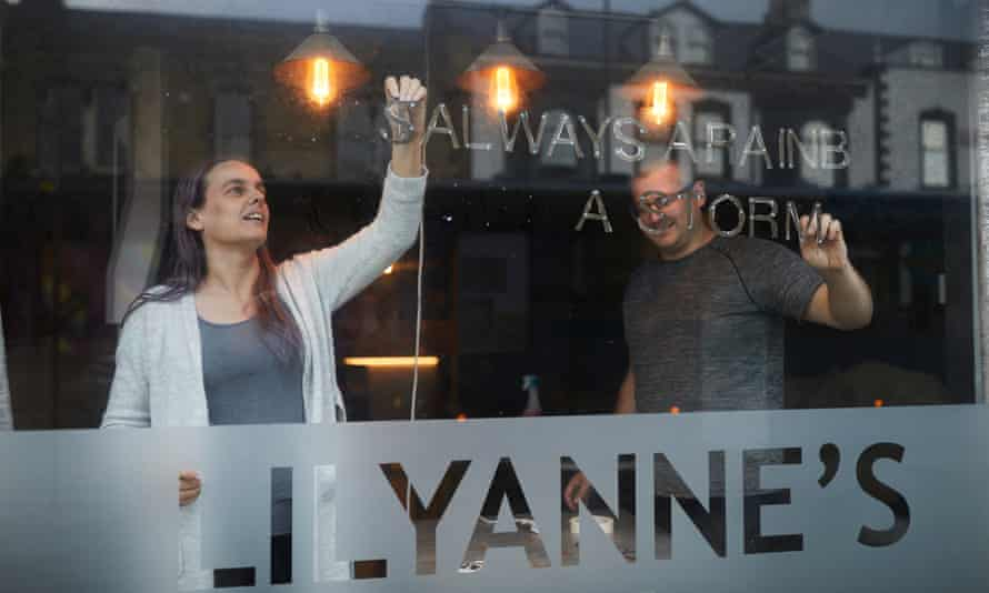 Angela Arnold and her brother Trevor Sherwood, co-owners of Lilyanne's coffee bar in Hartlepool.