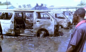 Bomb blast  in north-eastern Nigeria in October 2014 believed to have been carried out by Boko Haram