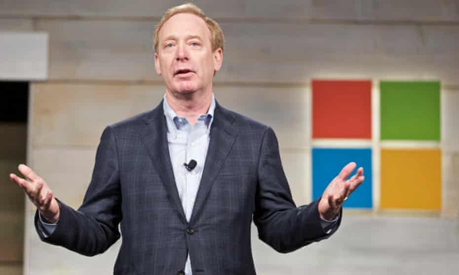 Microsoft president Brad Smith: taking the moral high ground.