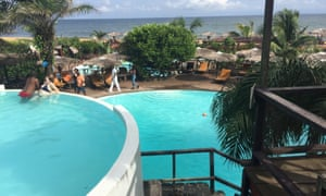 Ethical tourism: pools at Libassa Lodge.