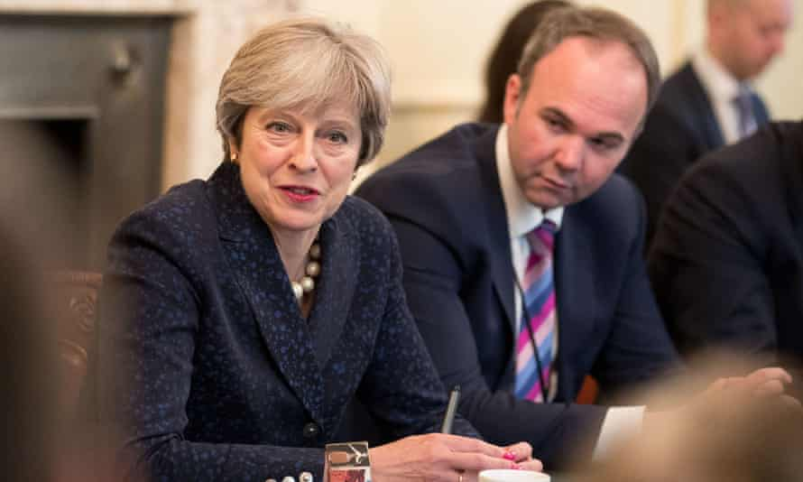 Gavin Barwell, right, with Theresa May in 2017.