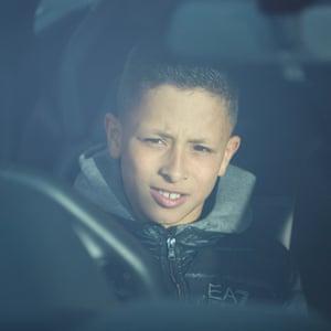 Mackenzie Middleton takes pride of place in his hired Lamborghini Gallardo.