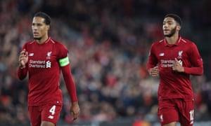 Virgil van Dijk and Joe Gomez have helped push Liverpool up the table.