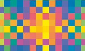 Detail of Karl Gerstner's <em>Polychrome of Pure Colors. </em>For full credit see full image below.