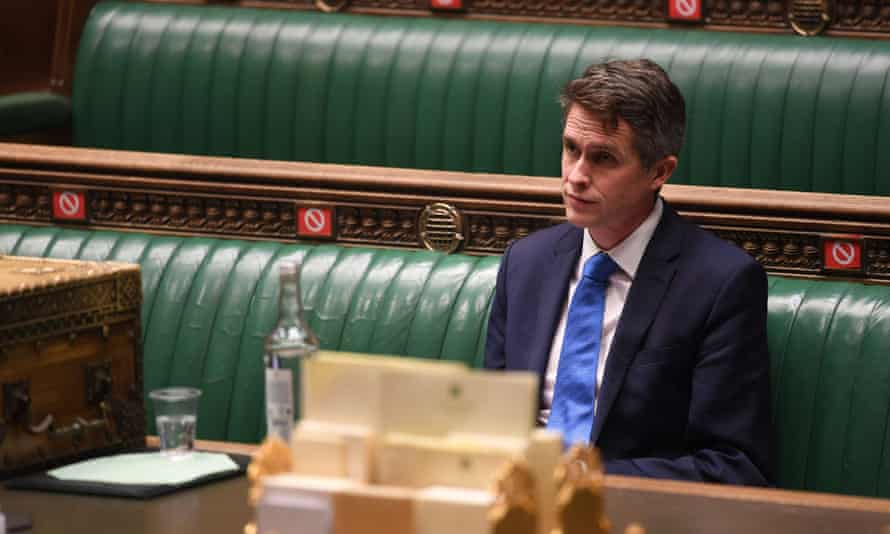 The education secretary, Gavin Williamson, in the Commons