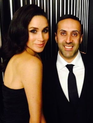 Hussain seen in a photo from his social media with the then Meghan Markle.