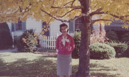 Genevieve Fox's mother, who died when the author was nine, in front of her house in 1959