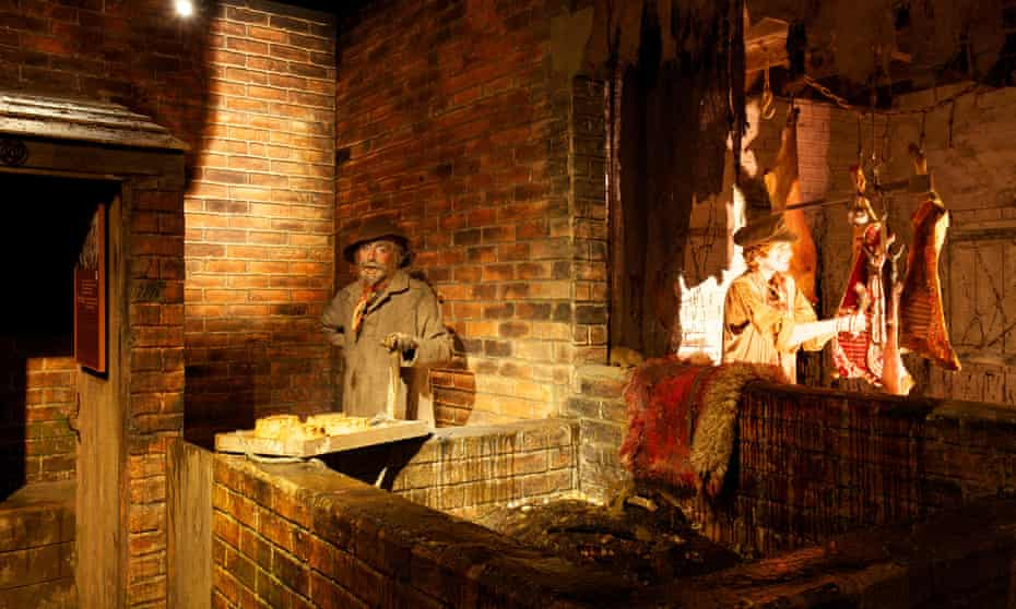 Display at Thackray Medical Museum, Leeds, showing a typical Victorian street