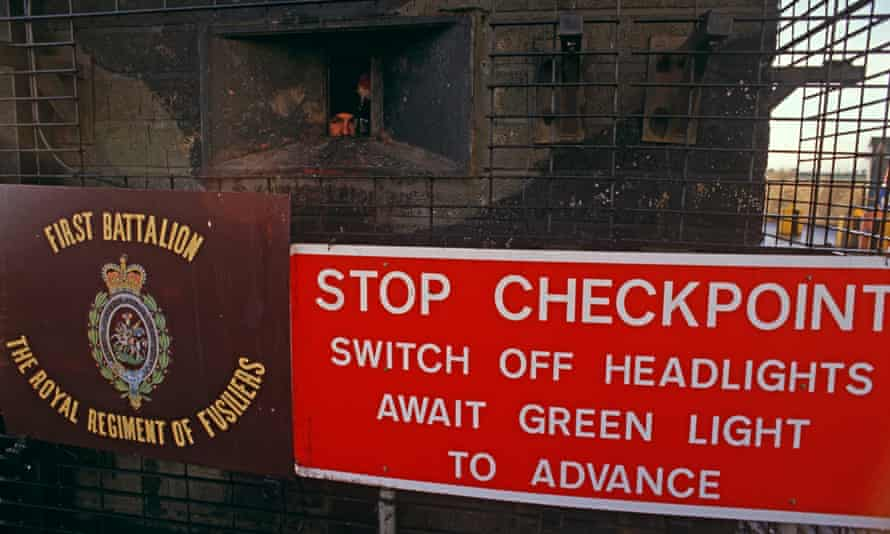 A Northern Ireland checkpoint