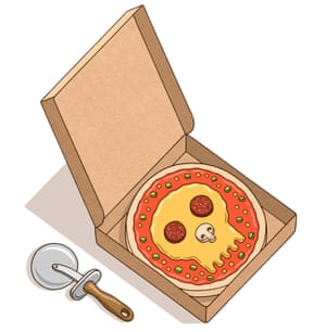 Skull pizza to go: be aware your next slice could be your last