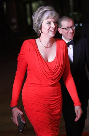 London, UK Prime Minister, Theresa May and her husband Philip arrives at the Guildhall to attend the annual military awards ceremony honouring British servicemen and women