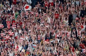 Japan fans celebrate.