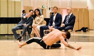 The royal couple observing a rehearsal at the Sydney Opera House of Spirit 2018 by the Bangarra Dance Theatre.