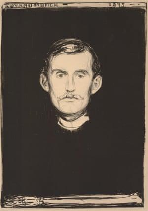 Edvard Munch Self-Portrait With Skeleton Arm, 1895.