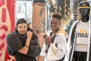 In 2018 Adams dallied with the world of fashion againshed launched her first sportswear collection in collaboration with Everlast and she is pictured with with designer Michele Lamy at Selfridges, London.