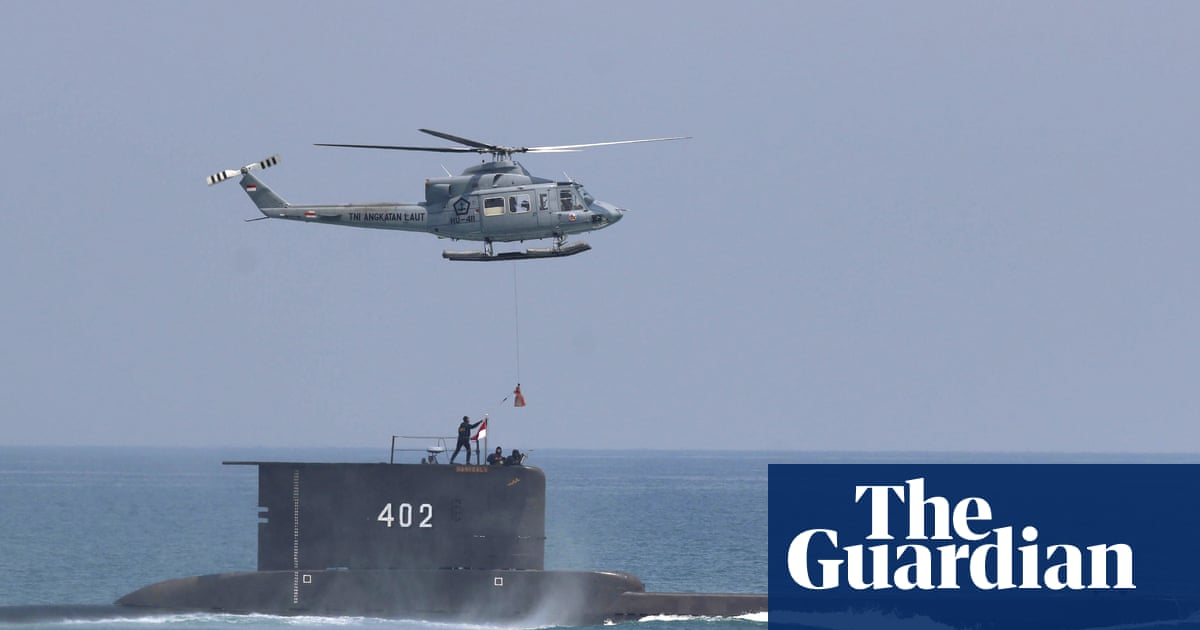 Indonesian navy submarine goes missing with 53 people onboard