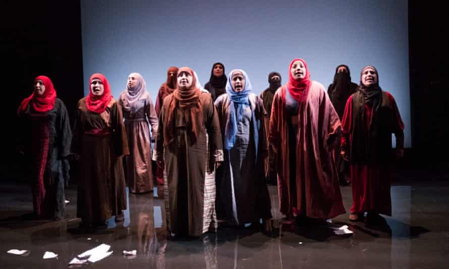 A scene from Queens Of Syria at the Young Vic in London in 2016.