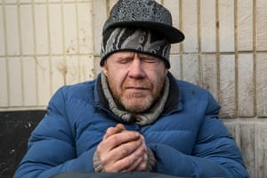 Ginger, a 41-year-old homeless man living rough in Camden, north London.