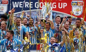 Coventry City celebrate with the trophy after winning the League Two play-off final.