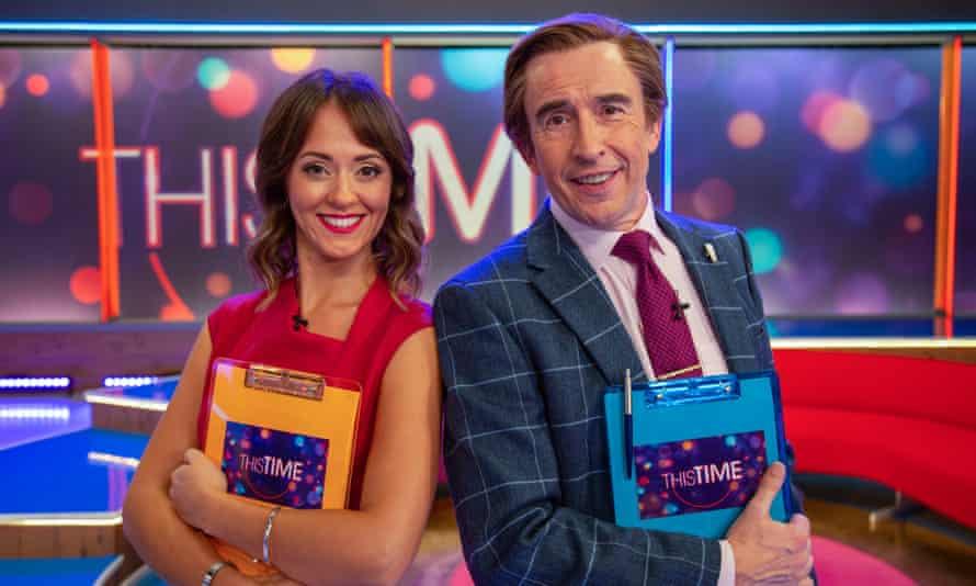 Susannah Fielding and Steve Coogan in This Time with Alan Partridge.