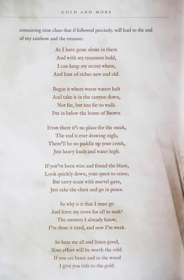 Forrest Fenn's poem