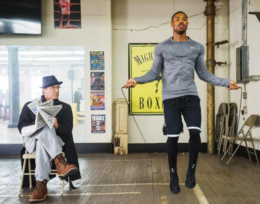 Sylvester Stallone and Michael B Jordan in Creed.